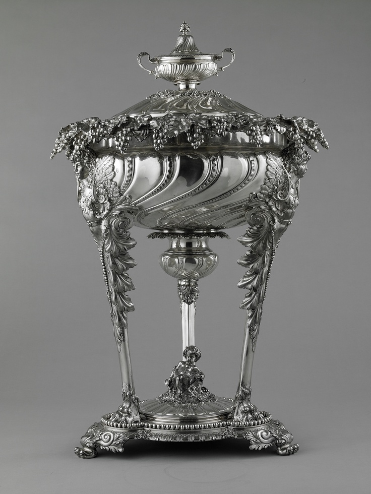Tiffany & Company (American, est. 1837). Punch bowl, 1893. Sterling silver and metal. Photo by John Faier for the Richard H. Driehaus Museum.