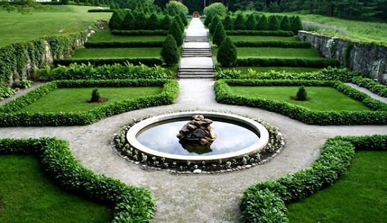 The gardens at the Mount, which Edith Wharton designed and called a greater accomplishment than her successful novel, The House of Mirth. Photo by David Dashiell and courtesy the Mount.