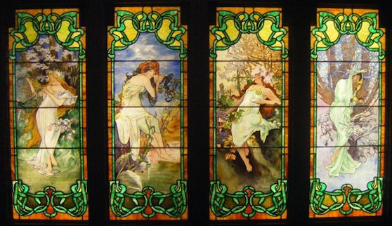 Four Seasons window Smith Museum Chicago