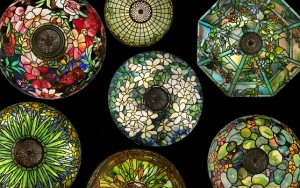 Tiffany Studios stained-glass lamps