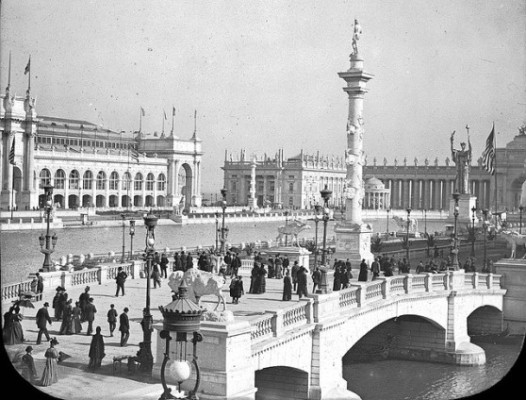A view of the World's Columbian Exposition in 1893. The Brooklyn Museum.