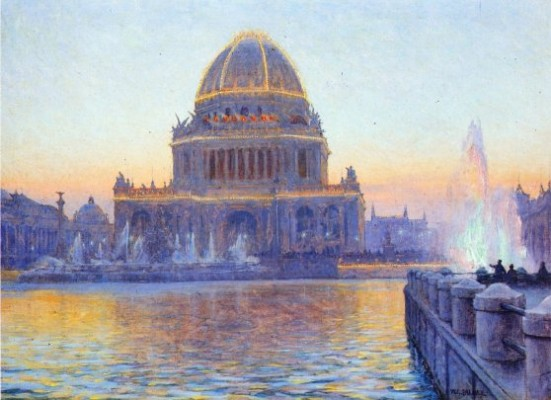 Walter Launt Palmer (American, 1854-1932) Twilight at the World's Columbian Exposition, 1894. Oil on canvas. The Richard H. Driehaus Museum.