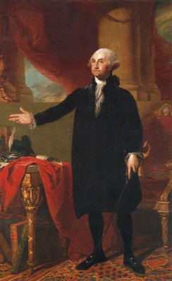 George Washington portrait in the White House
