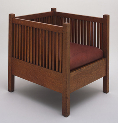 Craftsman Workshops of Gustav Stickley, Armchair, 1907.