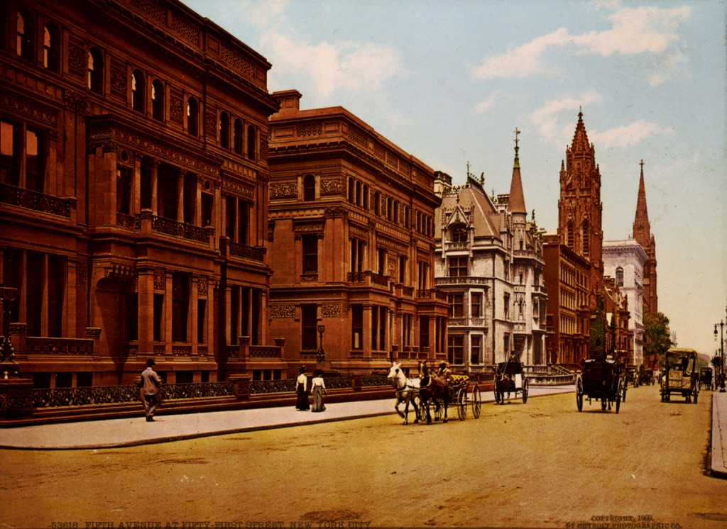 Fifth Avenue at Fifty-First Street, 1900.