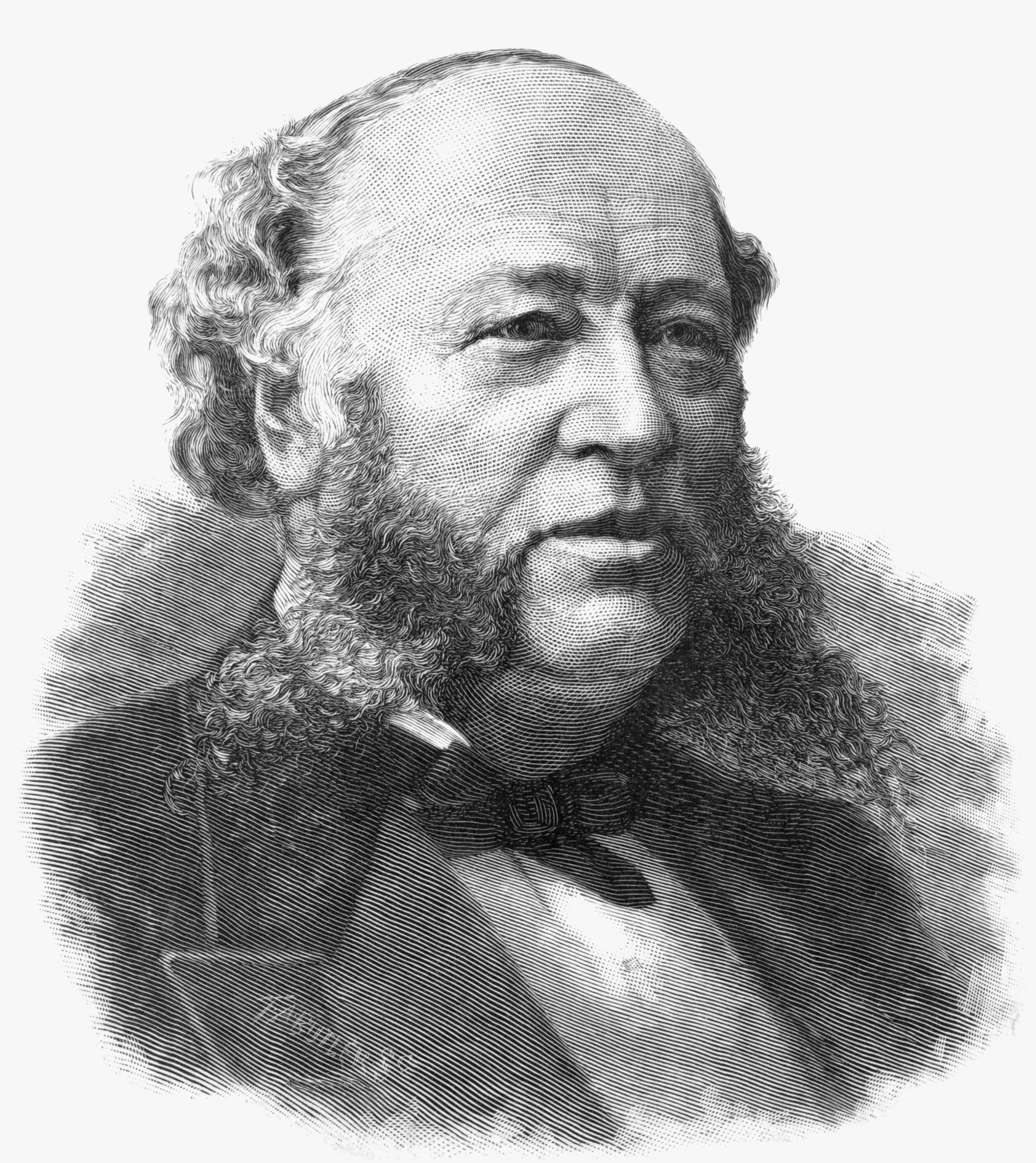 William Henry Vanderbilt I (1821-1885). Illustration originally published in Harper's weekly, v. 29, no. 1513 (1885 December 19), p. 845. Library of Congress, Prints and Photographs Division.