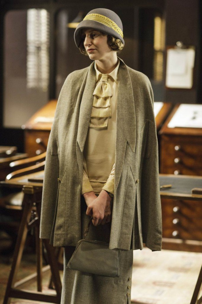 Lady Edith Crawley of Downton Abbey, in professional attire.