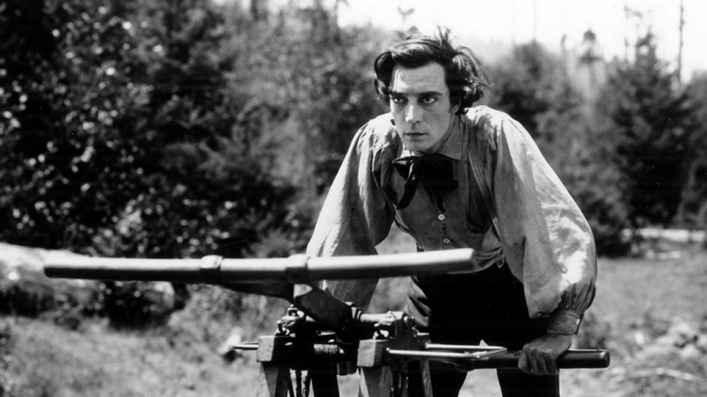 Silent film star Buster Keaton in The General (1926)