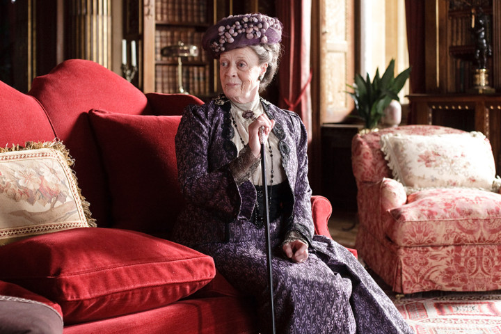 The Dowager Countess of Grantham represents the 'old guard' in fashion and tradition on Downton Abbey. ©Carnival Films / Masterpiece