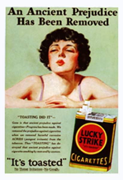 Advertisement for Lucky Strike cigarettes.