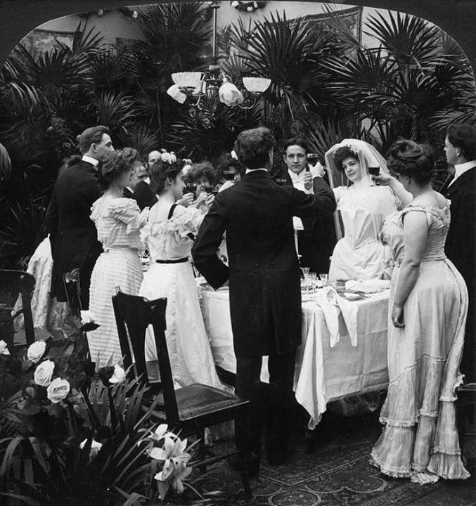 A wedding reception in 1905.