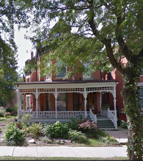 The FIsher's 1885 residence on 4036 Ellis Avenue. (Google Streetview, 2014)