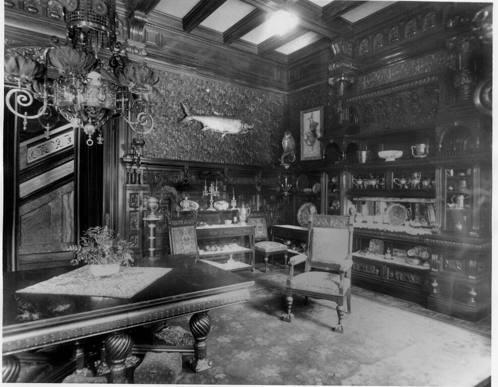 The Dining Room of the Nickerson Mansion (Fisher Period, ca. 1900).