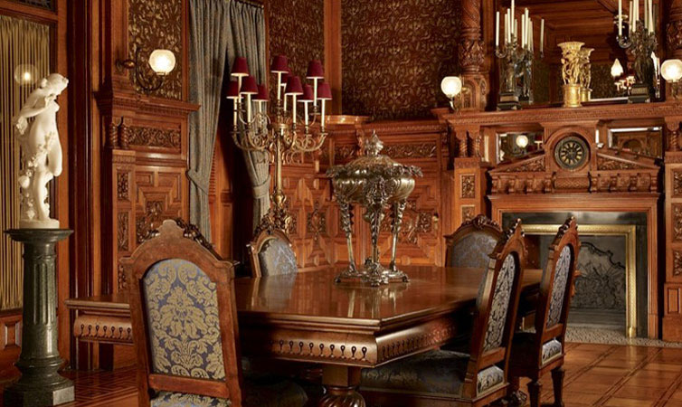 The Dining Room of the Nickerson Mansion after restoration.
