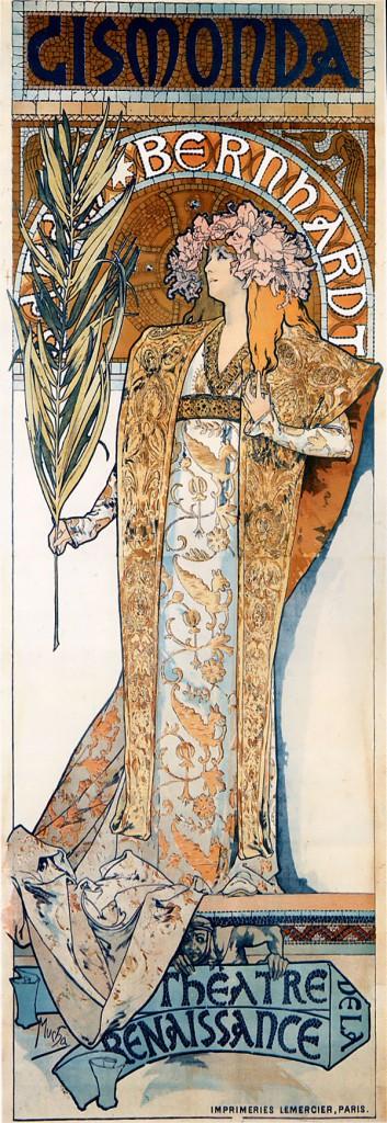 Gismonda, 1894. Alphonse Mucha (Czech, 1860-1939).