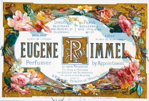 Card for Eugène Rimmel, designed by Jules Chéret.
