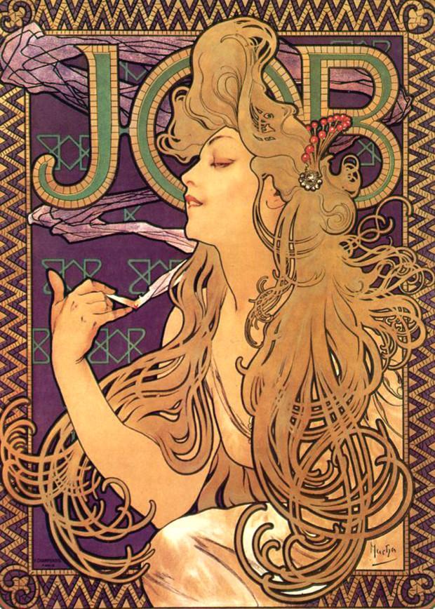"""Job,"" Alphonse Mucha, 1896."