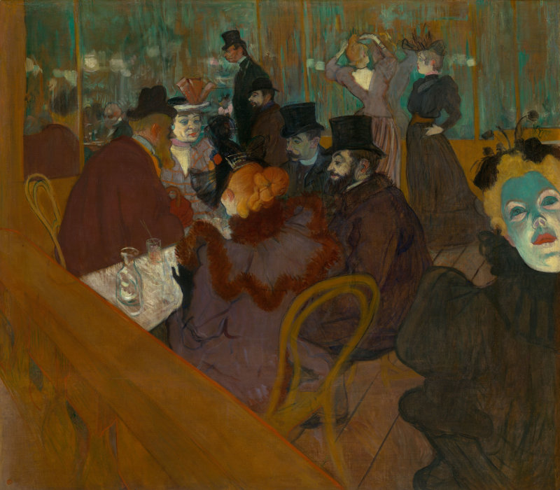 Henri de Toulouse-Lautrec (French, 1864–1901). At the Moulin Rouge, 1892/95. The Art Institute of Chicago.