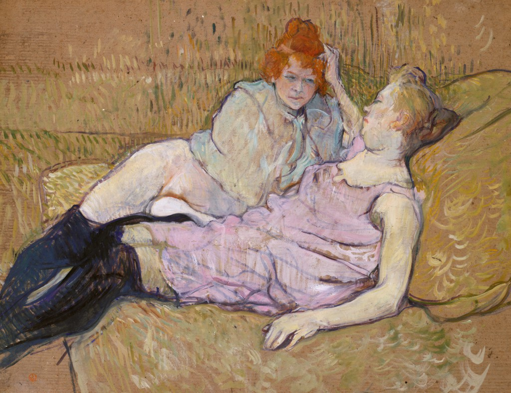 Henri de Toulouse-Lautrec (French, 1864–1901). The Sofa, ca. 1894-96. The Metropolitan Museum of Art.