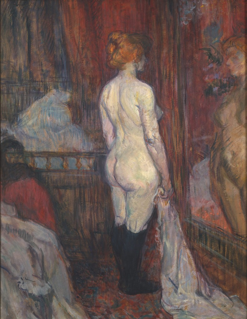 Henri de Toulouse-Lautrec (French, 1864–1901). Woman Before a Mirror, 1897. The Metropolitan Museum of Art.