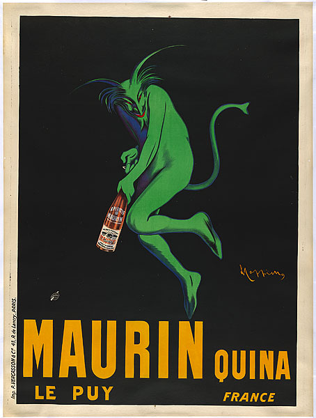 Leonetto Cappiello (Born Italy, 1875–1942), Maurin Quina, 1906. From the collection of the National Gallery of Australia, NGA 2005.367.