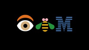 Paul Rand (American, 1914-1996). Eye, Bee, M (IBM), 1981 (detail). From the collection of the Cooper-Hewitt Smithsonian Design Museum.