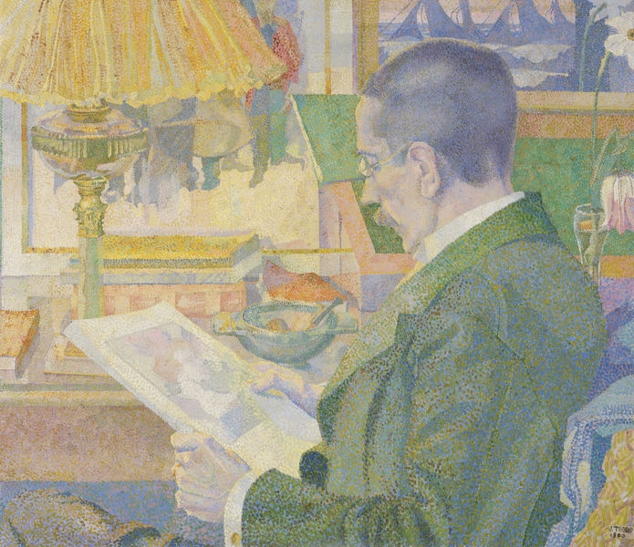 Jan Toorop, De prentenliefhebber (The Print Collector) (Dr. Aegidus Timmerman), 1900. Oil on canvas. The Kröller-Müller Museum, Otterlo, Netherlands.