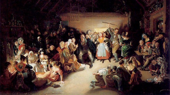 Snap-Apple Night by Daniel Maclise, 1833, depicting an Irish Halloween party he attended in Blarney in 1832.