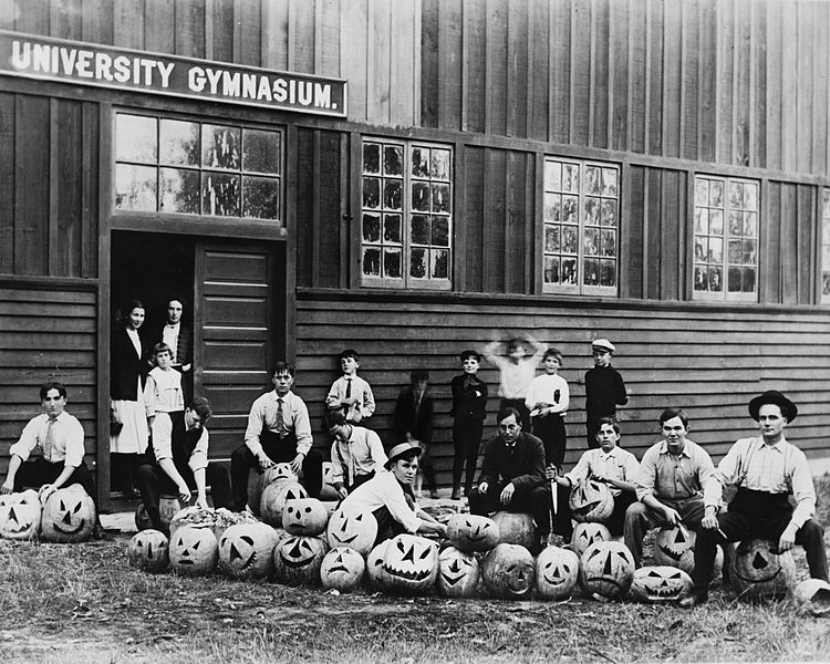 Student Halloween party at the University of Southern California, ca. 1890. USC History Collection.